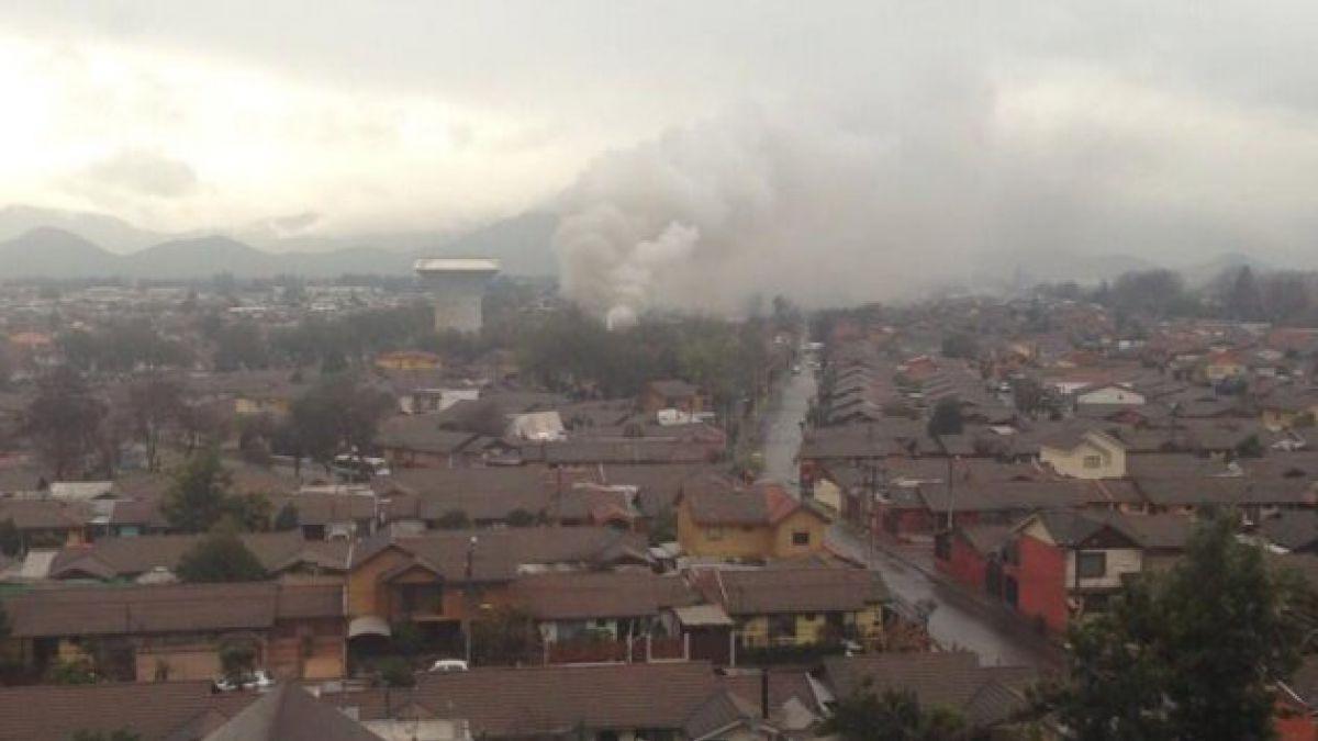 Un muerto y al menos cinco heridos deja incendio en Maipú