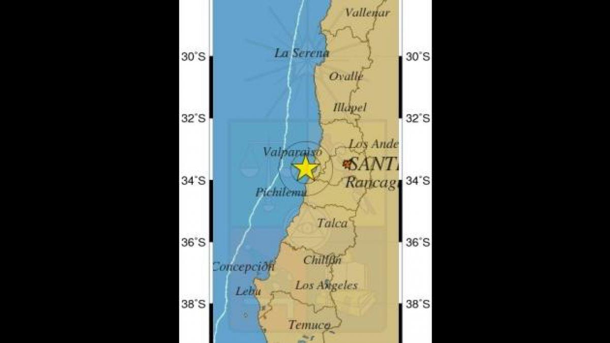 Sismo de mediana intensidad afectó a la zona central del país
