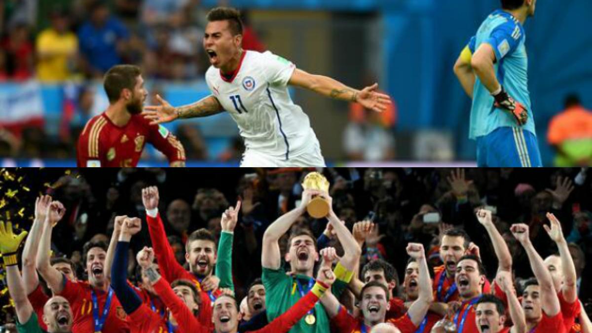 Las fotos más compartidas en Twitter durante el duelo entre Chile y España