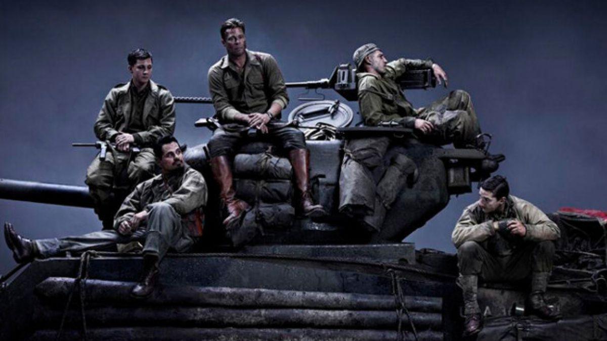 """Revelan primeras imágenes de """"Fury"""", la nueva película de Brad Pitt"""