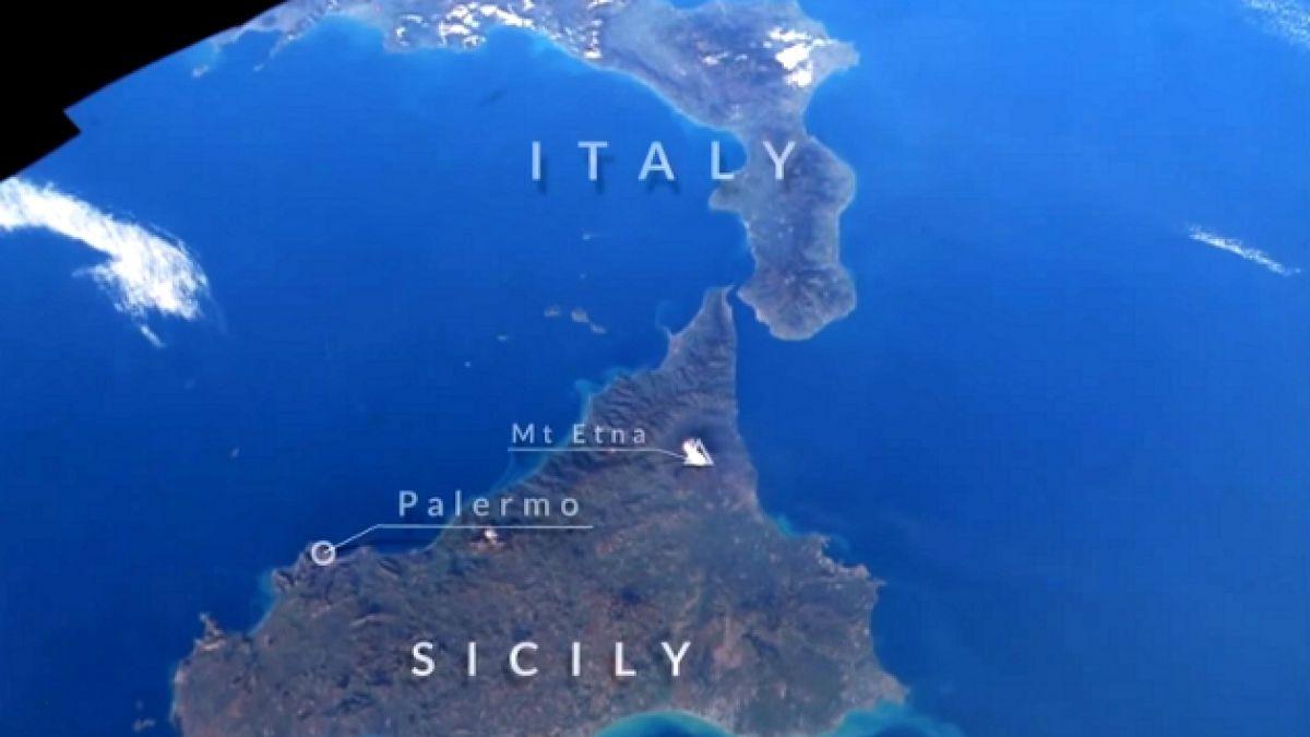 [VIDEO] Desde el espacio: ¿es esta la clase de geografía más creativa y original de la historia?