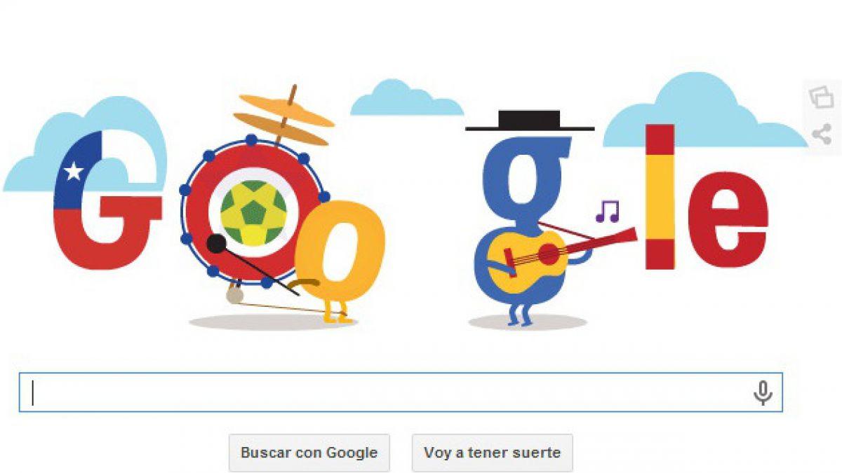 Google lanza doodle para partido entre Chile y España