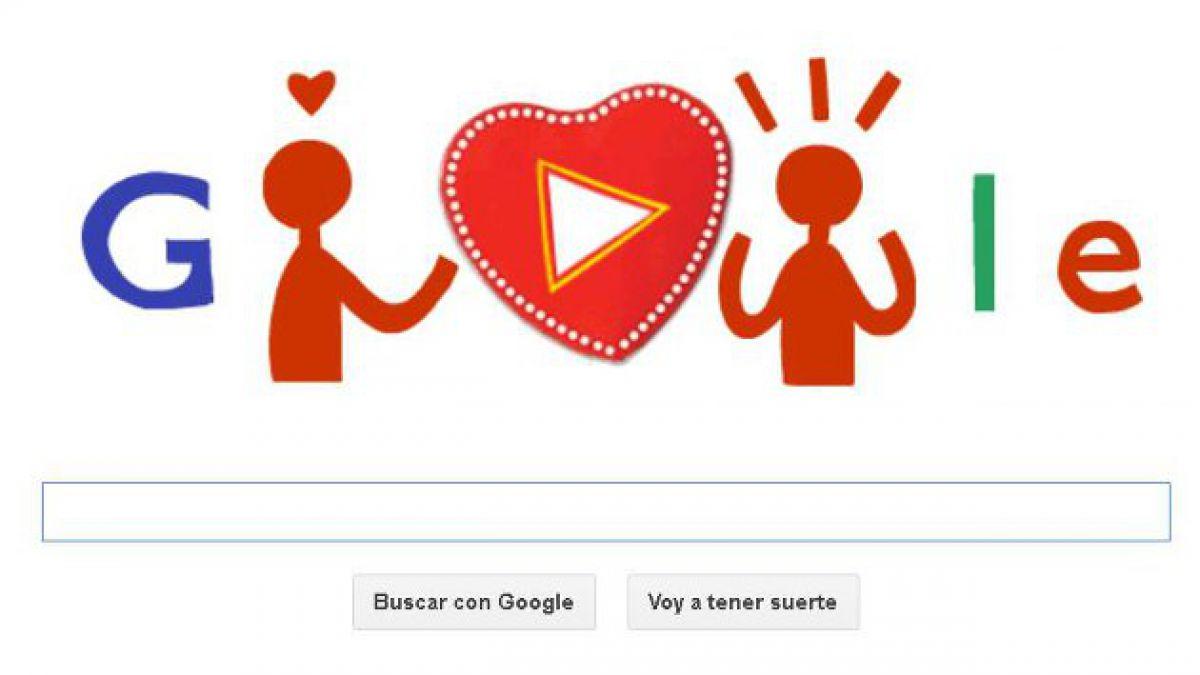 """Google celebra el Día del Amor y la Amistad con un """"doodle"""" especial"""