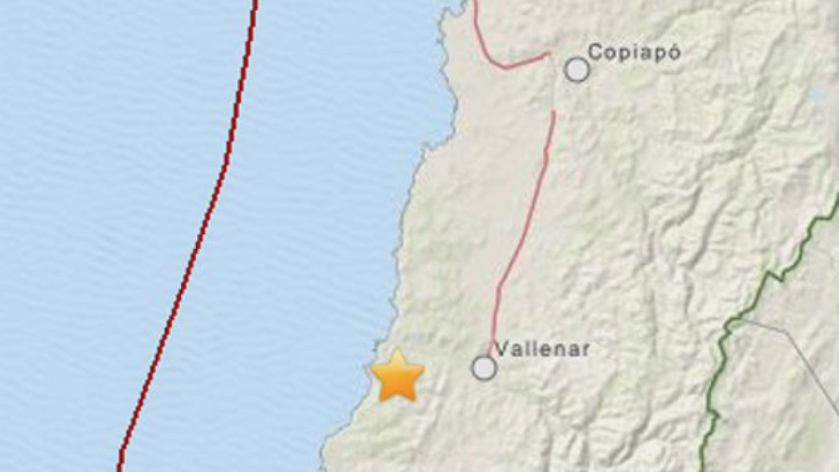 Sismo afectó a las regiones de Atacama y Coquimbo