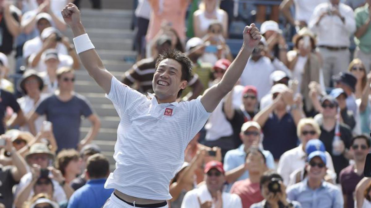 Nishikori elimina a Djokovic y pone a Japón en primera final de Grand Slam