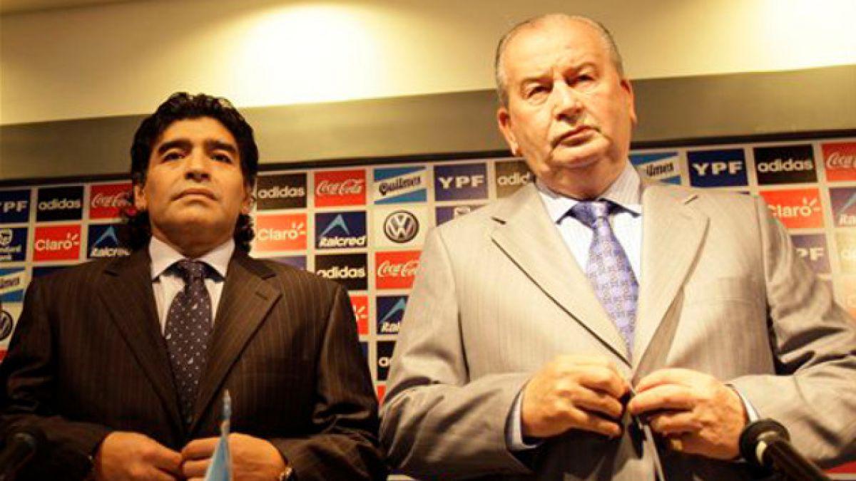 La tensa relación entre Julio Grondona y Diego Maradona