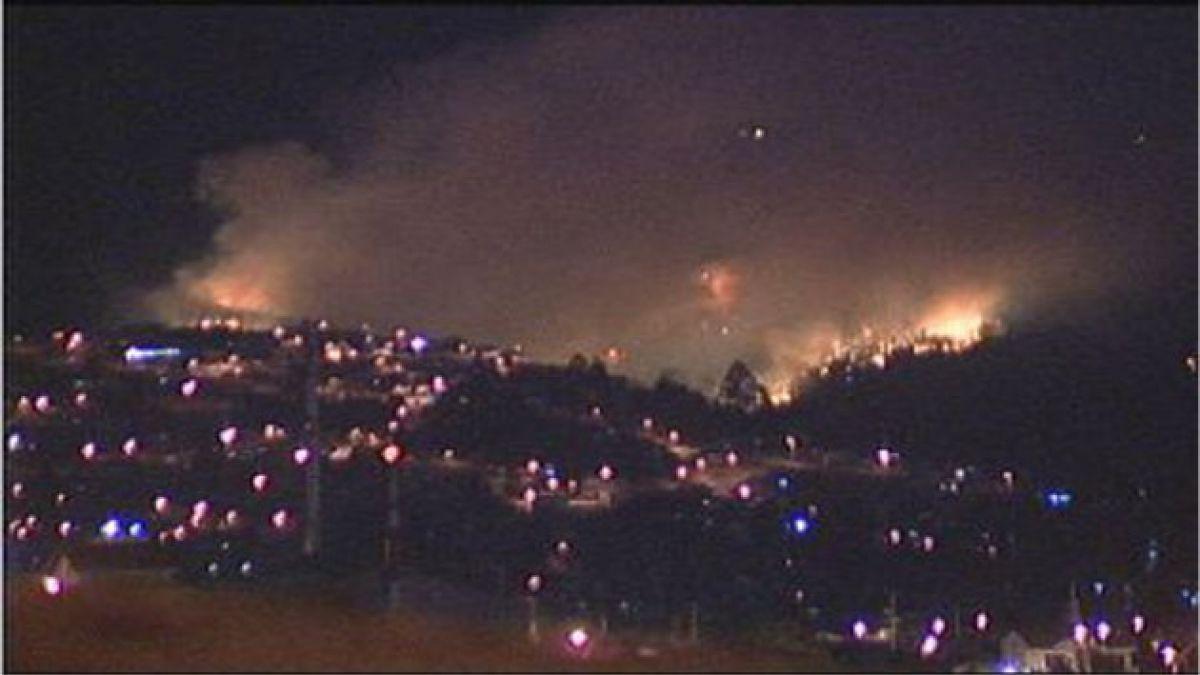 Alerta roja en Valparaíso por incendio forestal