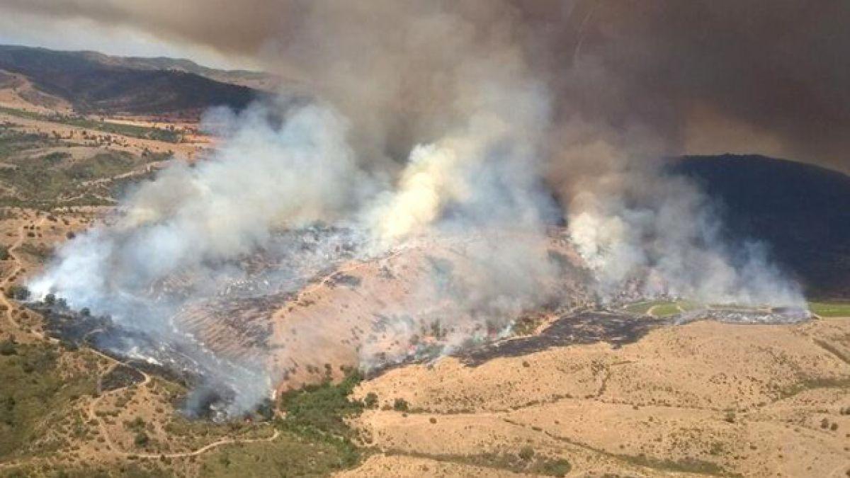 Declaran Alerta Roja por incendios forestales en San Antonio