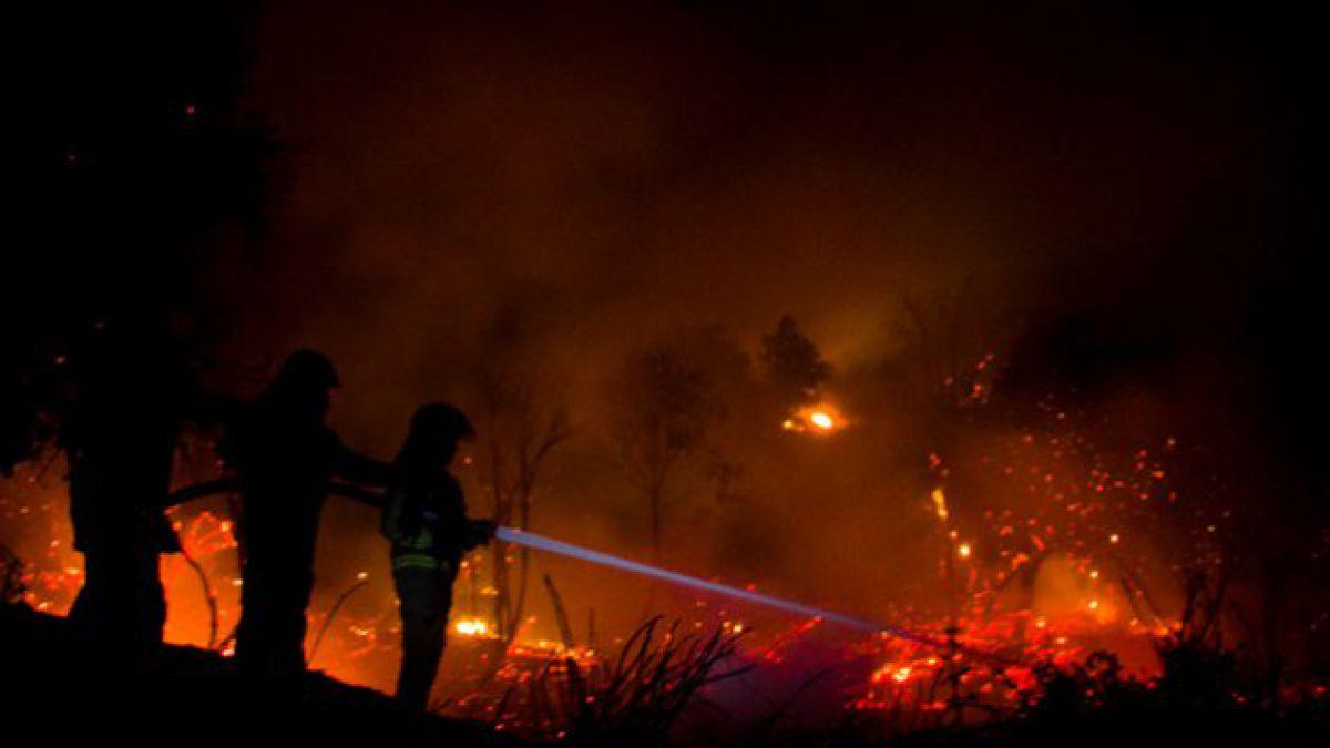 Onemi decreta Alerta Roja en OHiggins por incendios forestales