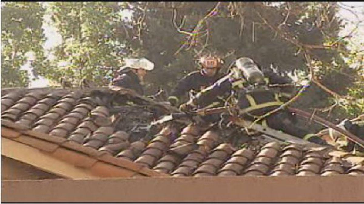 Incendio afectó a casa en Lo Barnechea