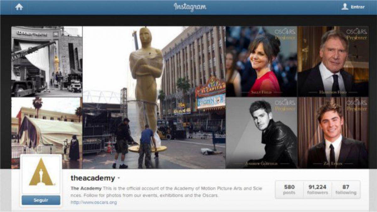 Las cuentas que debes seguir en Instagram durante los premios Oscar