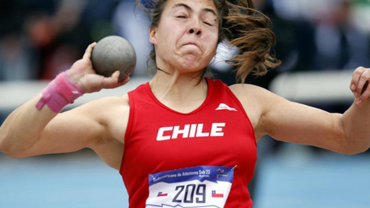 Chilena Ivana Gallardo se quedó con el oro en bala del Sudamericano sub23