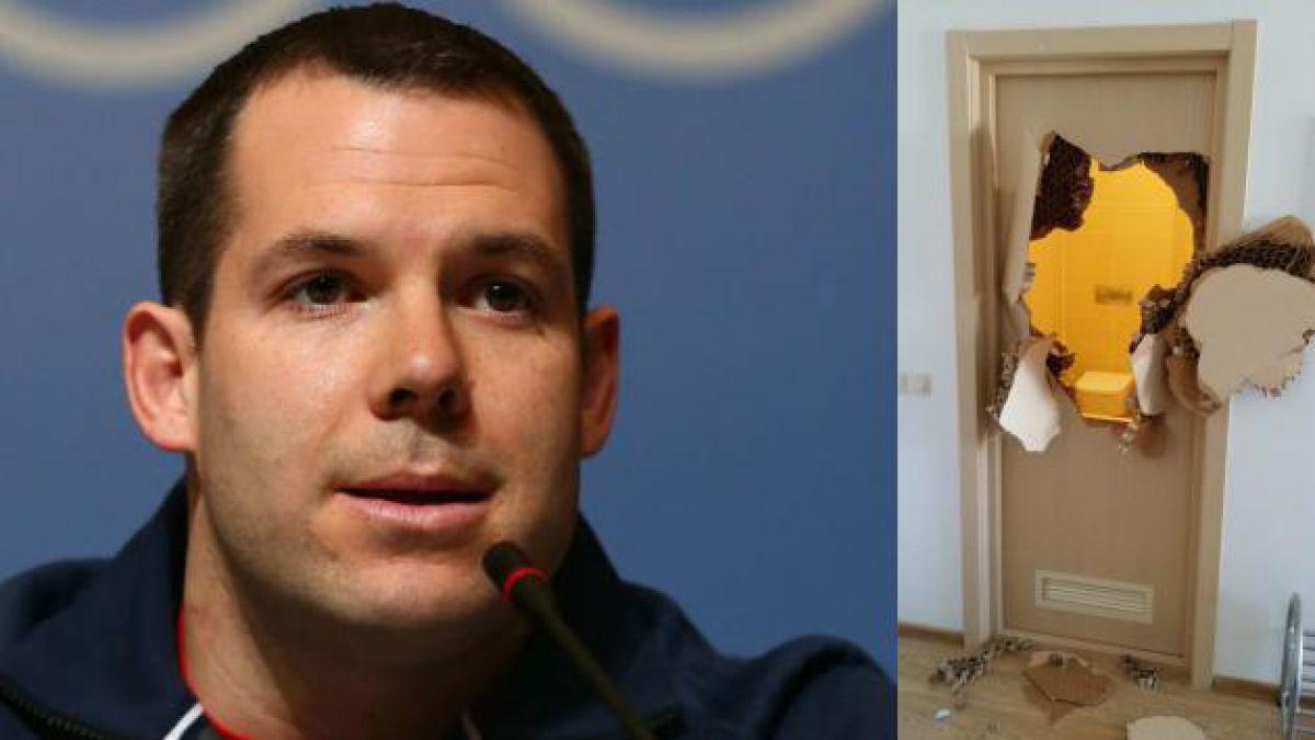 Atleta de JJ.OO. de Sochi rompe puerta tras quedarse atrapado en baño
