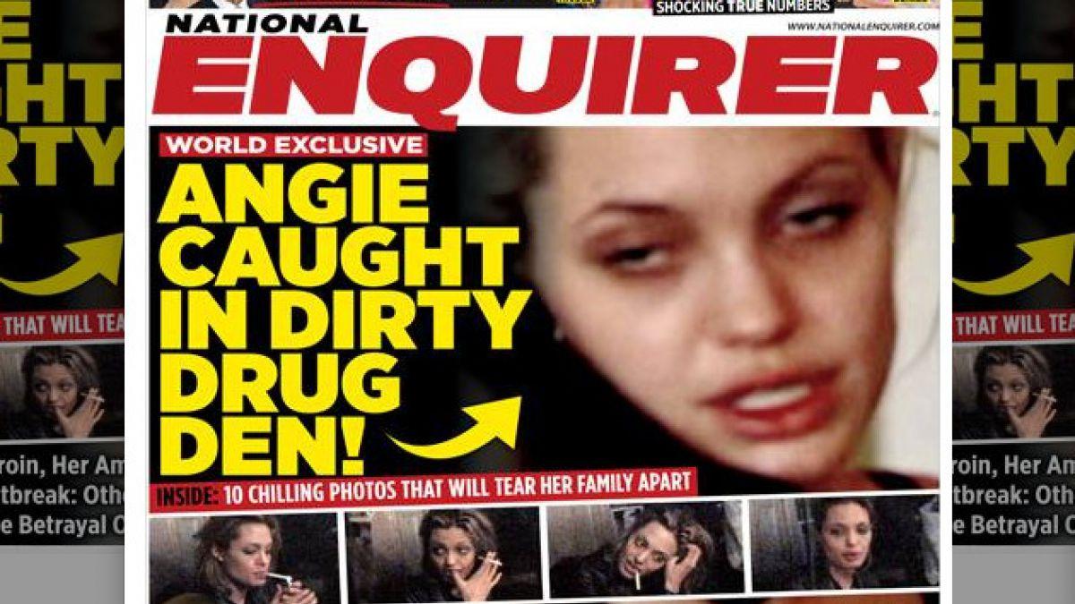 Revelan imágenes de Angelina Jolie consumiendo drogas