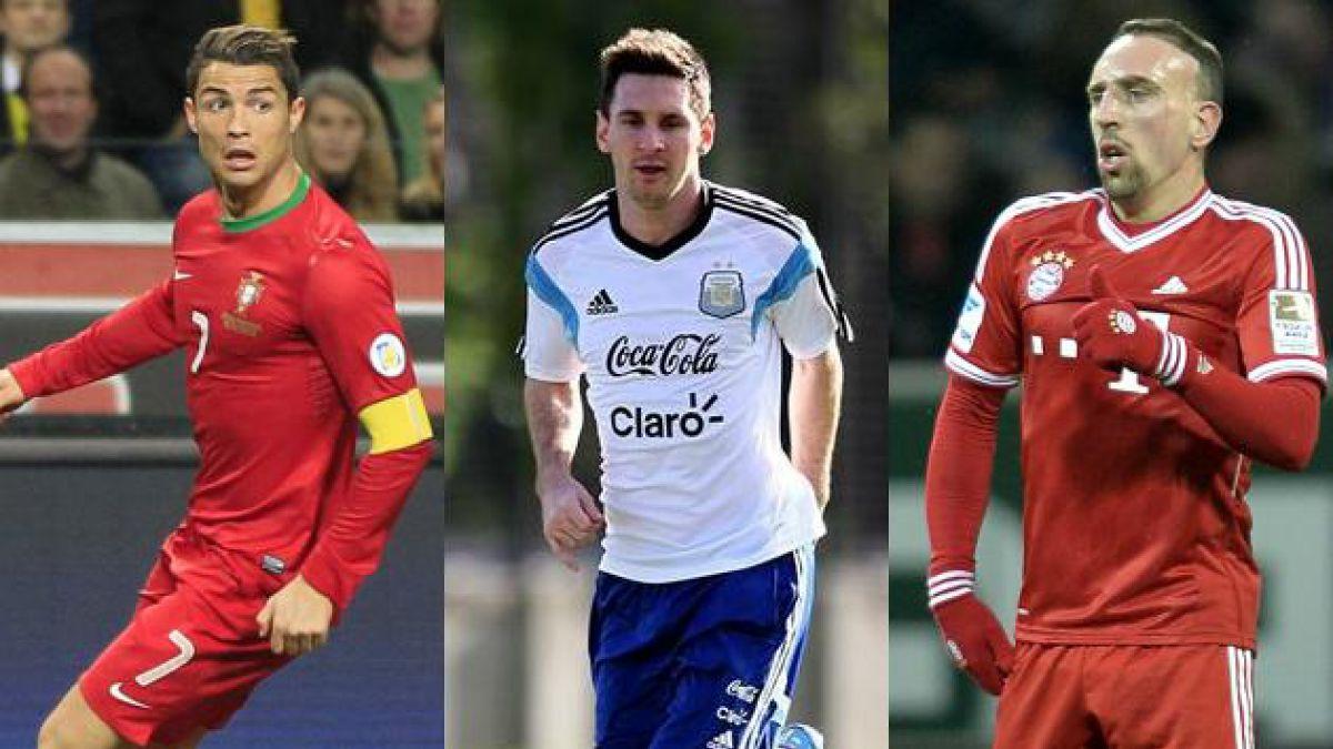 Messi, Ribéry y Ronaldo son los finalistas para el Balón de Oro