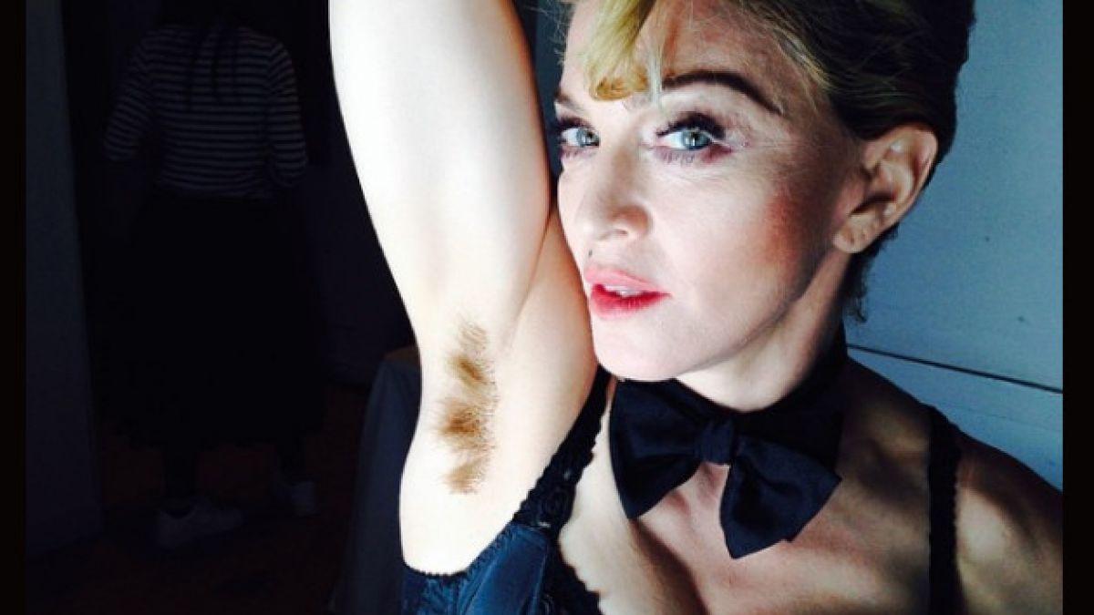 Madonna sorprende con imagen de su axila peluda