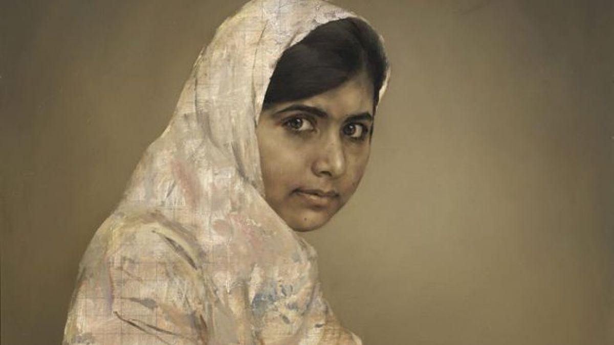 Recaudan más de 100 mil dólares por cuadro de joven activista pakistaní