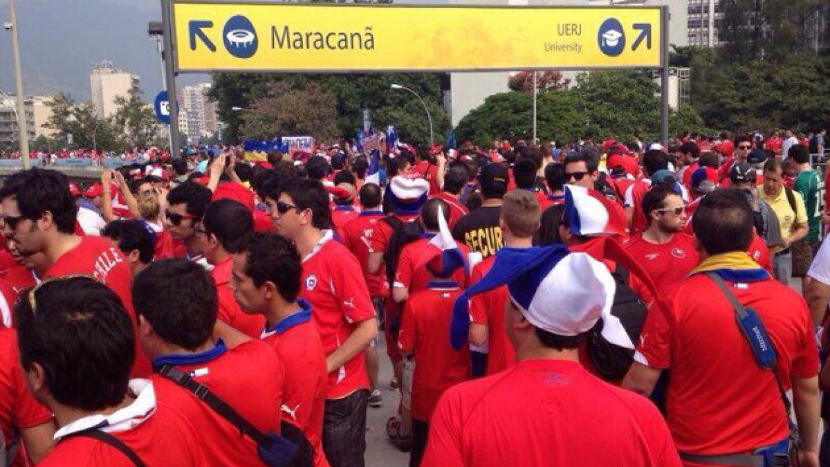 [FOTOS] La Marea Roja promete tomarse el Maracaná