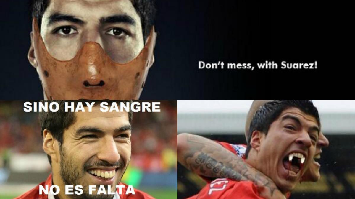 Los mejores memes por la mordida de Suárez en el partido Italia-Uruguay