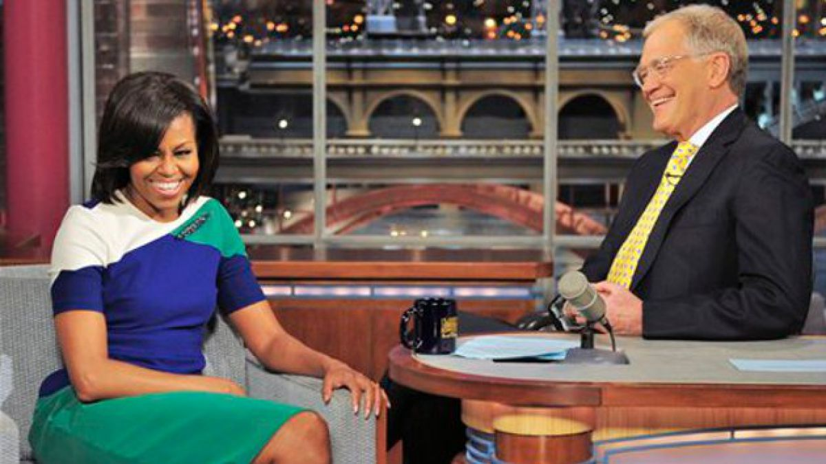 Michelle Obama apareció en programa de David Letterman