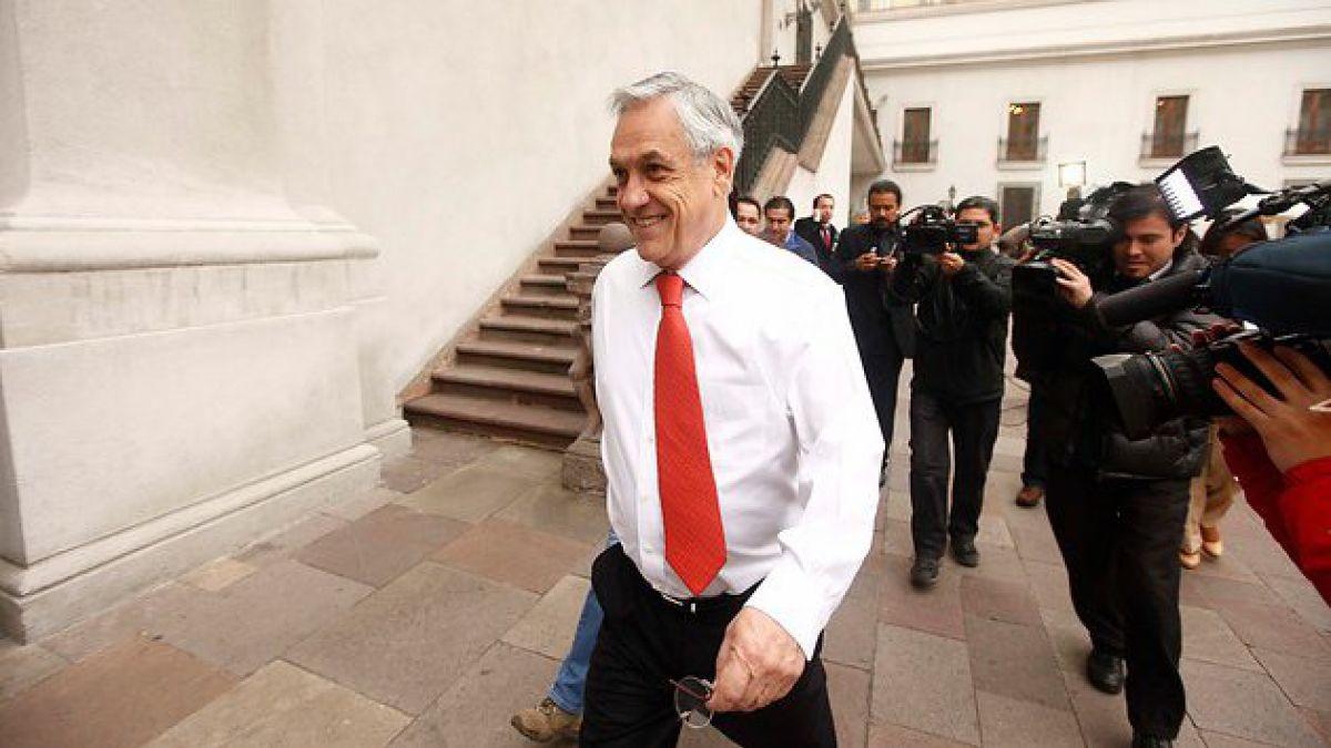 Presidente Piñera se refirió a su caída a través de Twitter