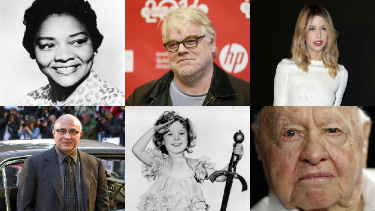Las 25 muertes que han impactado a Hollywood en lo que va del 2014