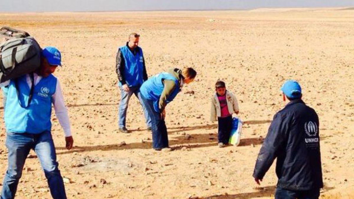 Niño de 4 años cruza la frontera de Siria solo para escapar de la guerra