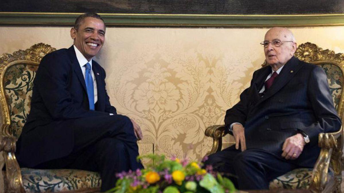 Barack Obama se reúne con el presidente italiano