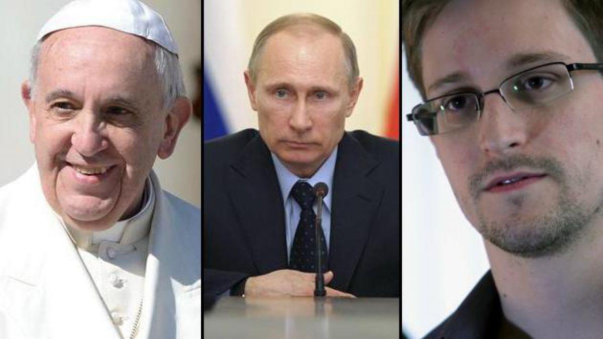 Papa Francisco, Putin y Snowden entre los candidatos al Premio Nobel de la Paz