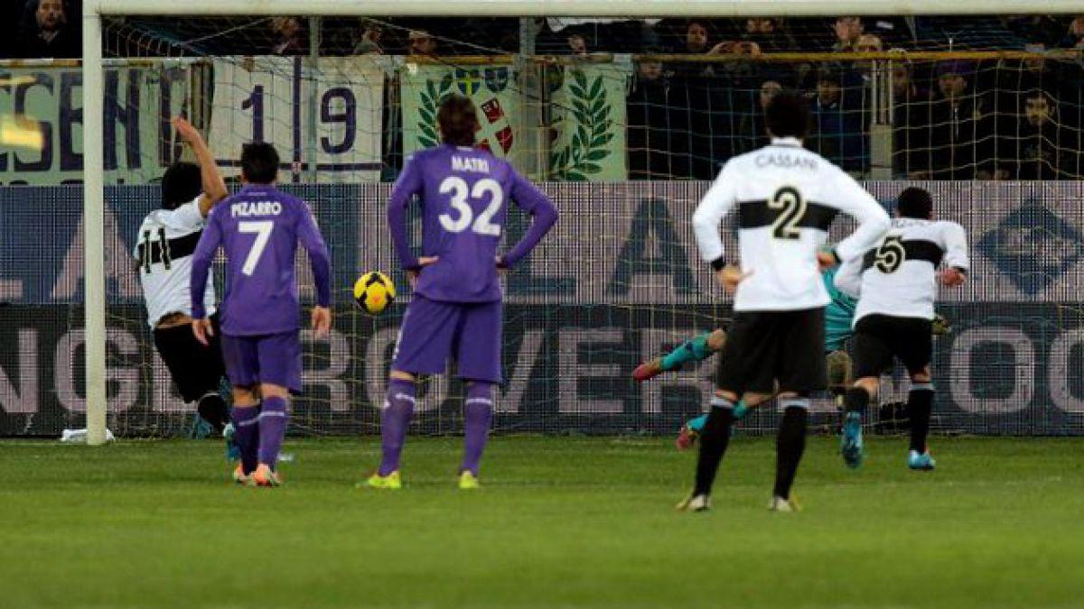 Fiorentina y Parma empatan con golazo de Matías Fernández