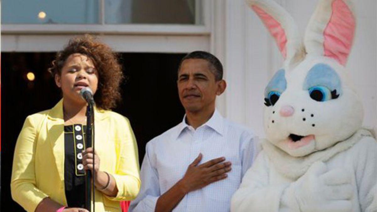 Realizan tradicional Carrera de Huevos de Pascua en la Casa Blanca