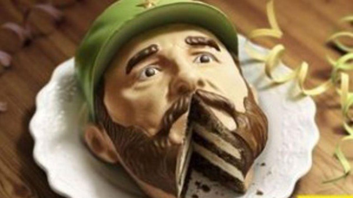 Pastel con la cara de Fidel Castro causa revuelo en internet