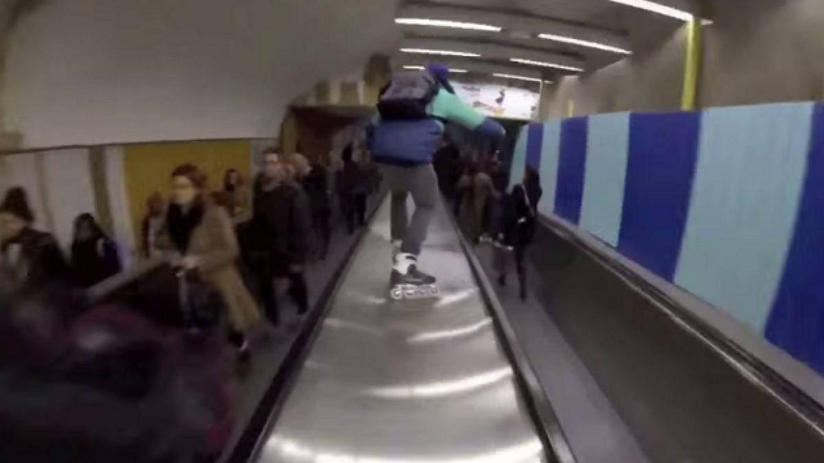 [VIDEO] Mira el extremo homenaje sobre patines que le hicieron a película de Luc Besson