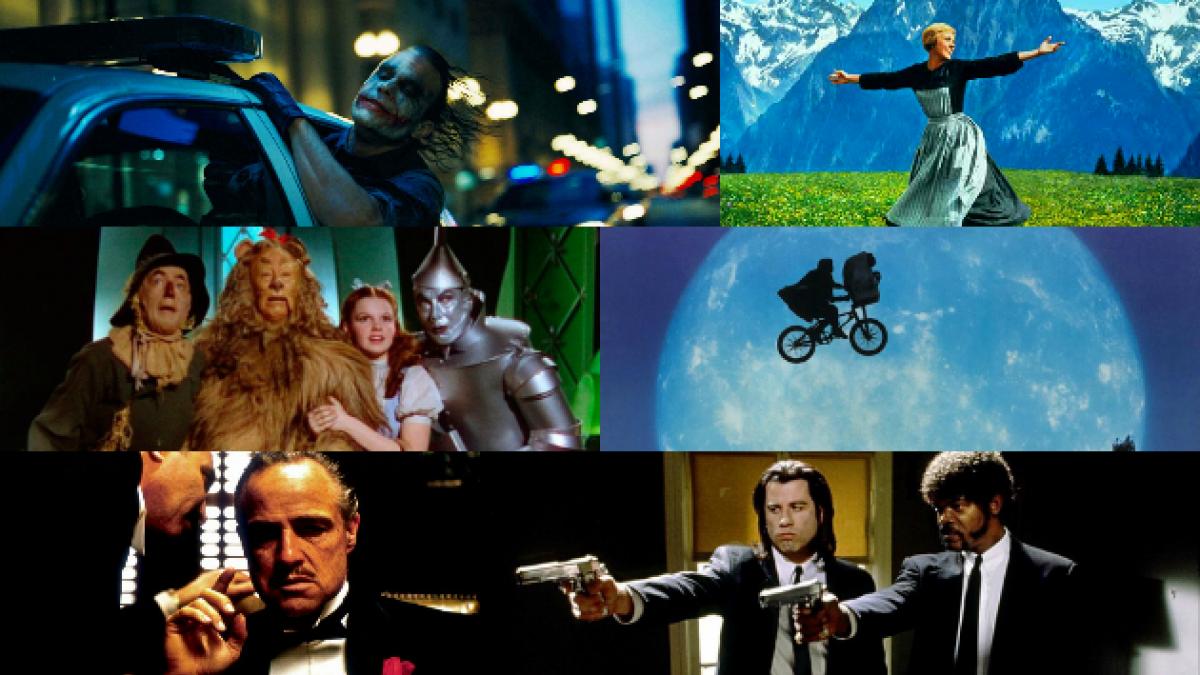 Las 100 películas que Hollywood eligió como las mejores