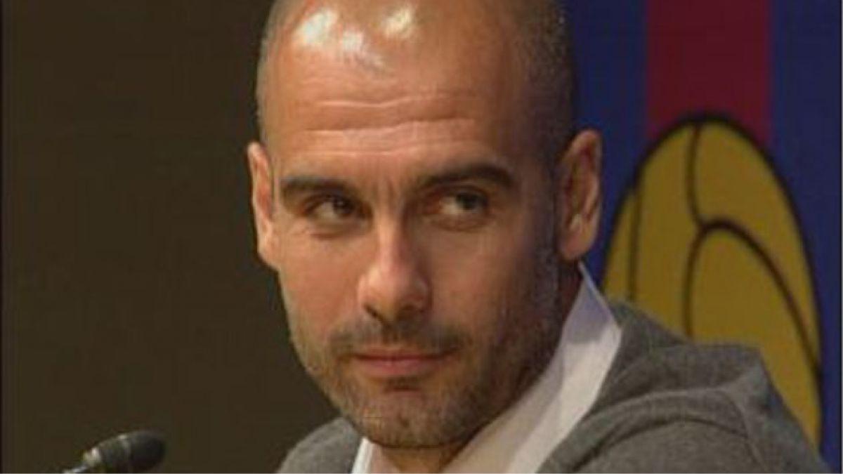 Guardiola anticipó atajada de penal en partido del Barcelona