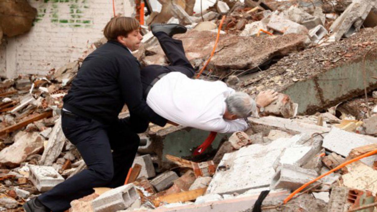 Presidente Piñera sufrió fuerte caída en Puente Alto