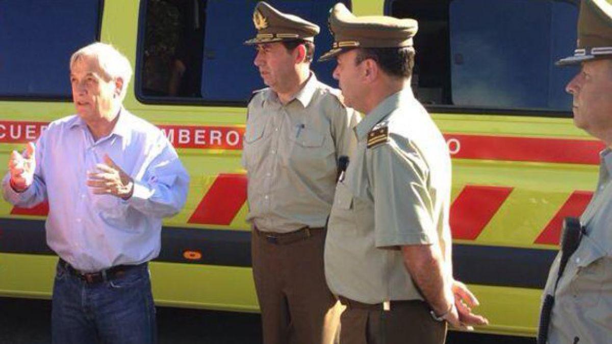 Presidente Piñera se disculpa por molestias provocadas por cierre de Ruta 68