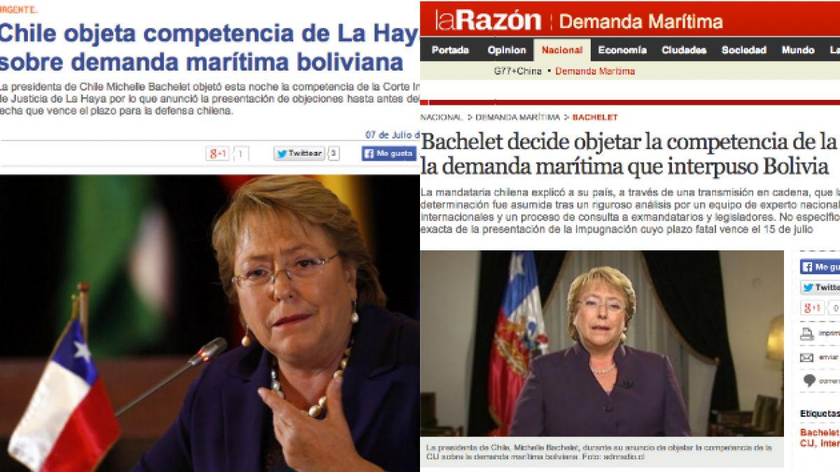 Así reaccionaron los medios bolivianos a la decisión de objetar a La Haya