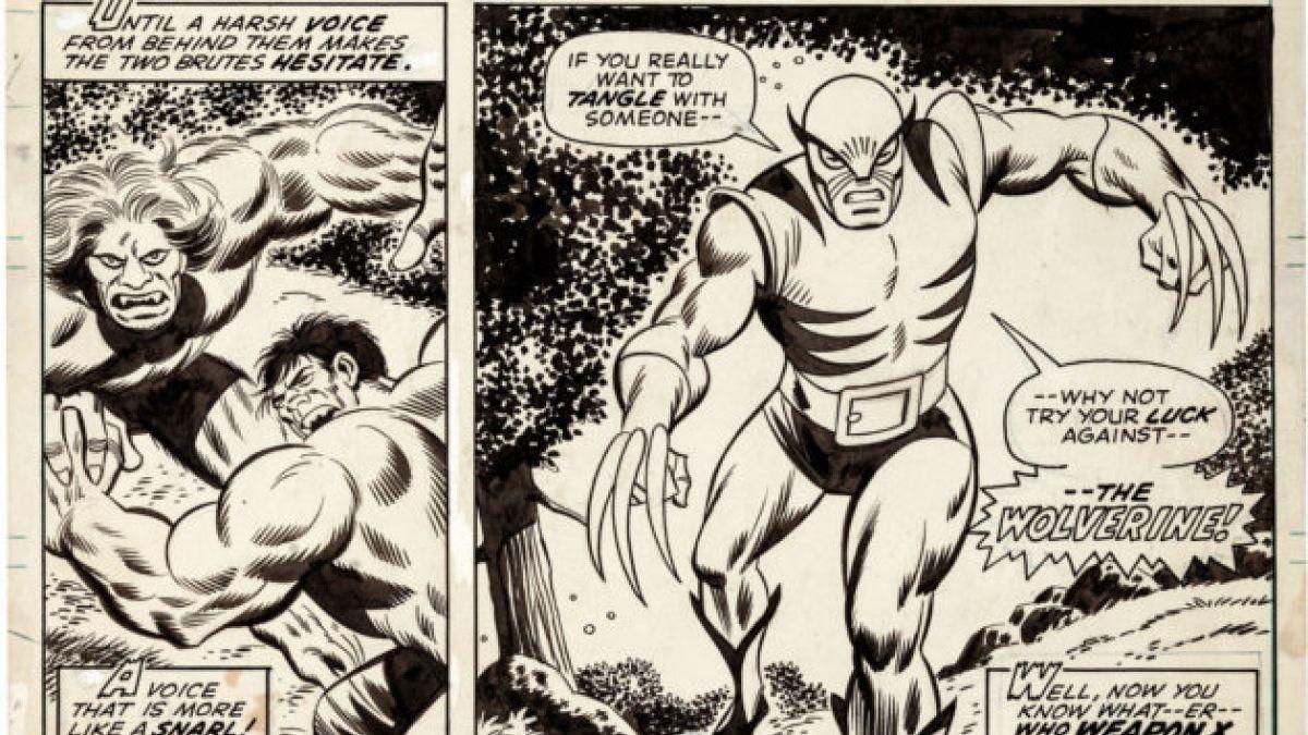 Subastan primer dibujo de Wolverine