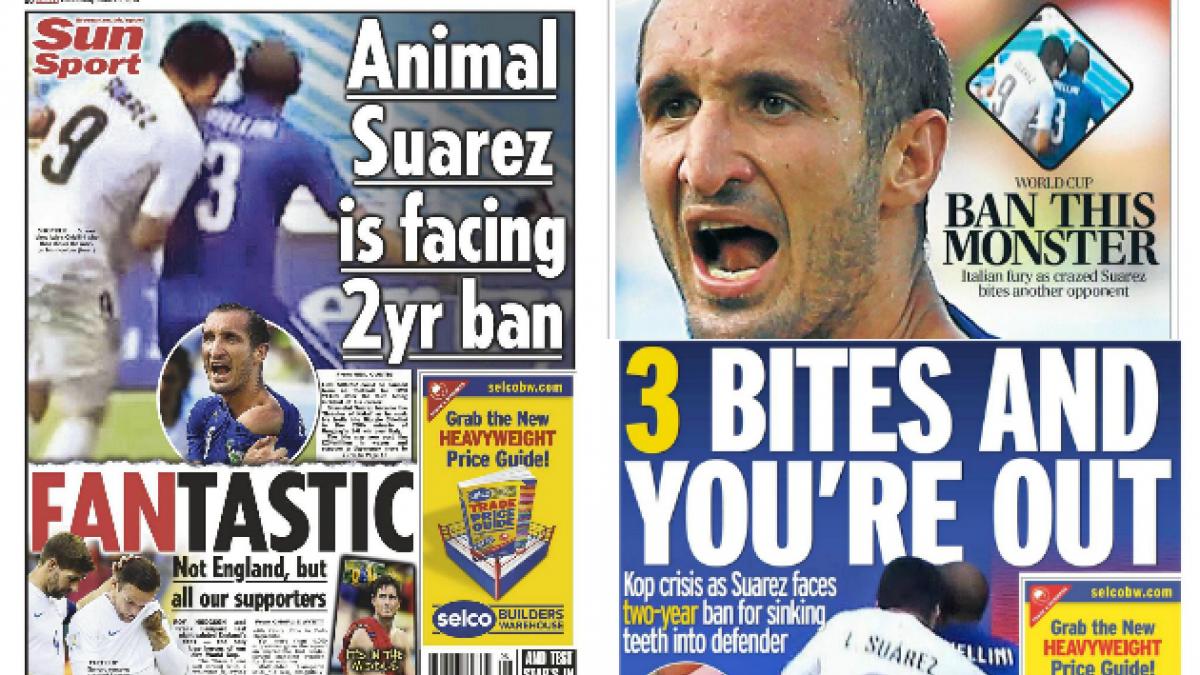 Así reaccionaron los diarios ingleses a la jugada polémica de Luis Suárez