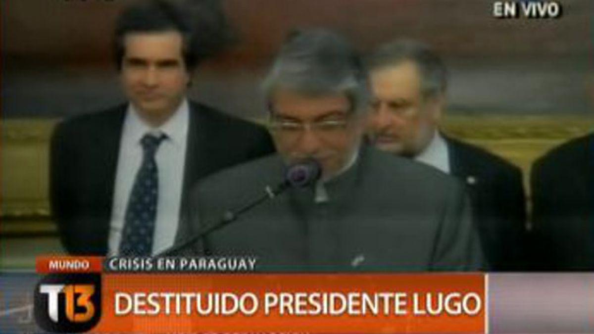 """Fernando Lugo: """"La democracia paraguaya ha sido herida"""""""