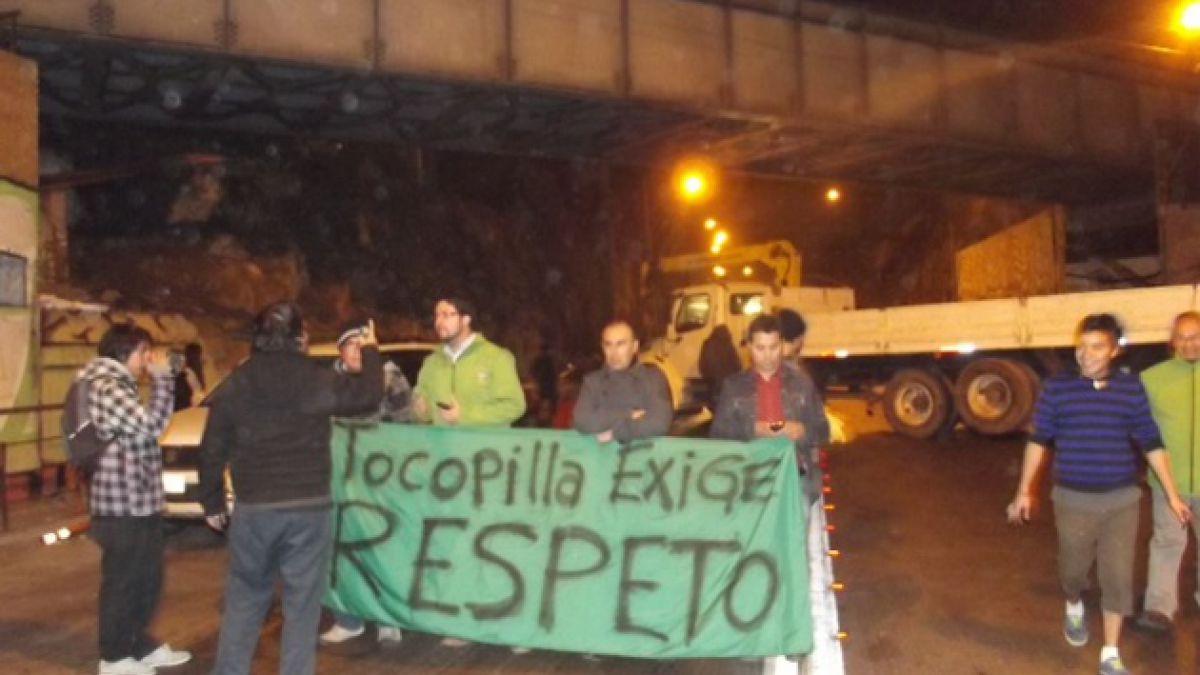 Habitantes de Tocopilla realizan paro comunal y bloquean rutas