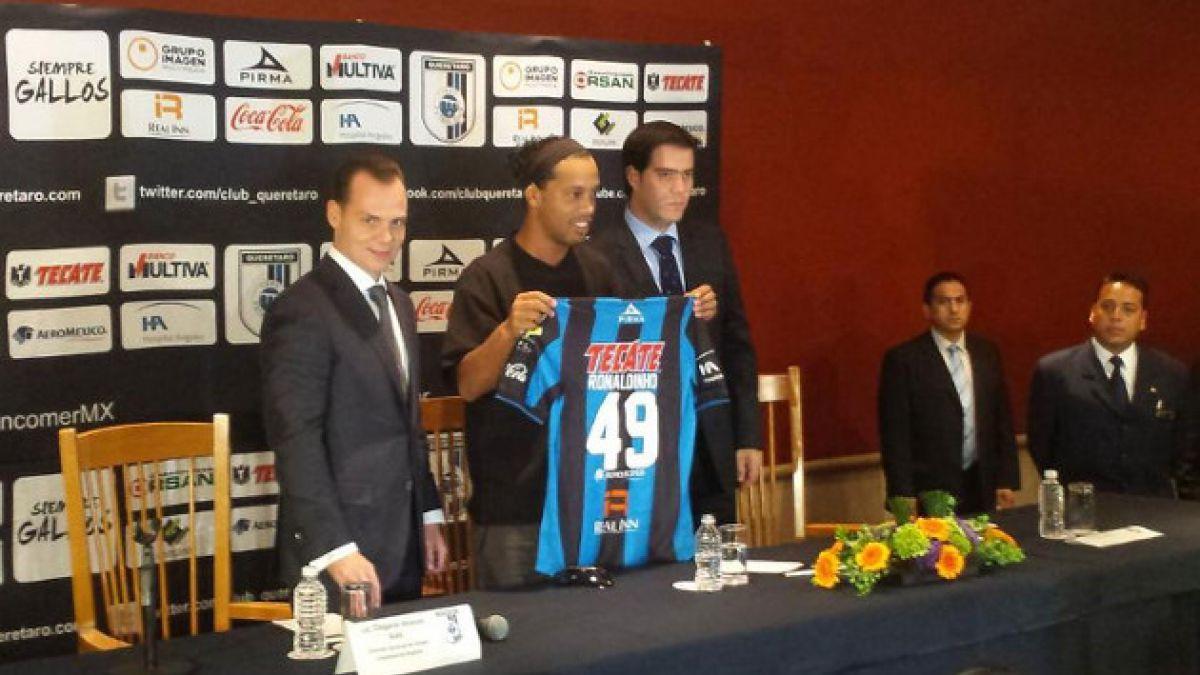 [FOTOS] Querétaro presenta oficialmente a Ronaldinho