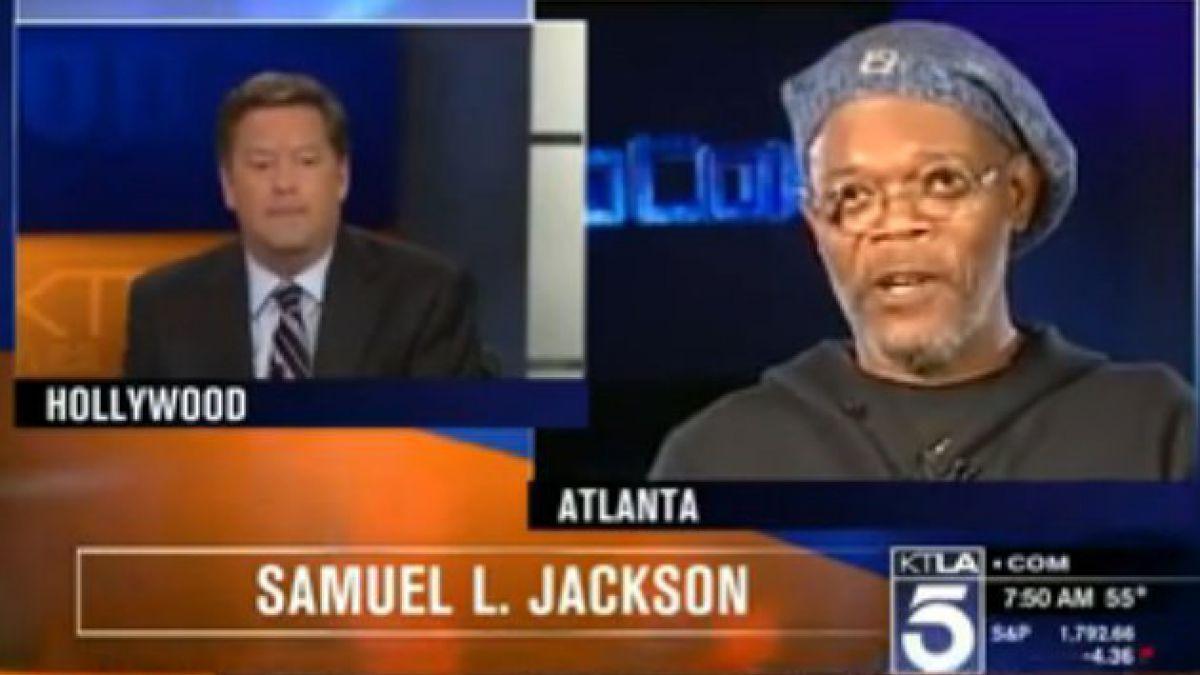 ¡Bochorno! Presentador confunde a Samuel L. Jackson con Laurence Fishburne