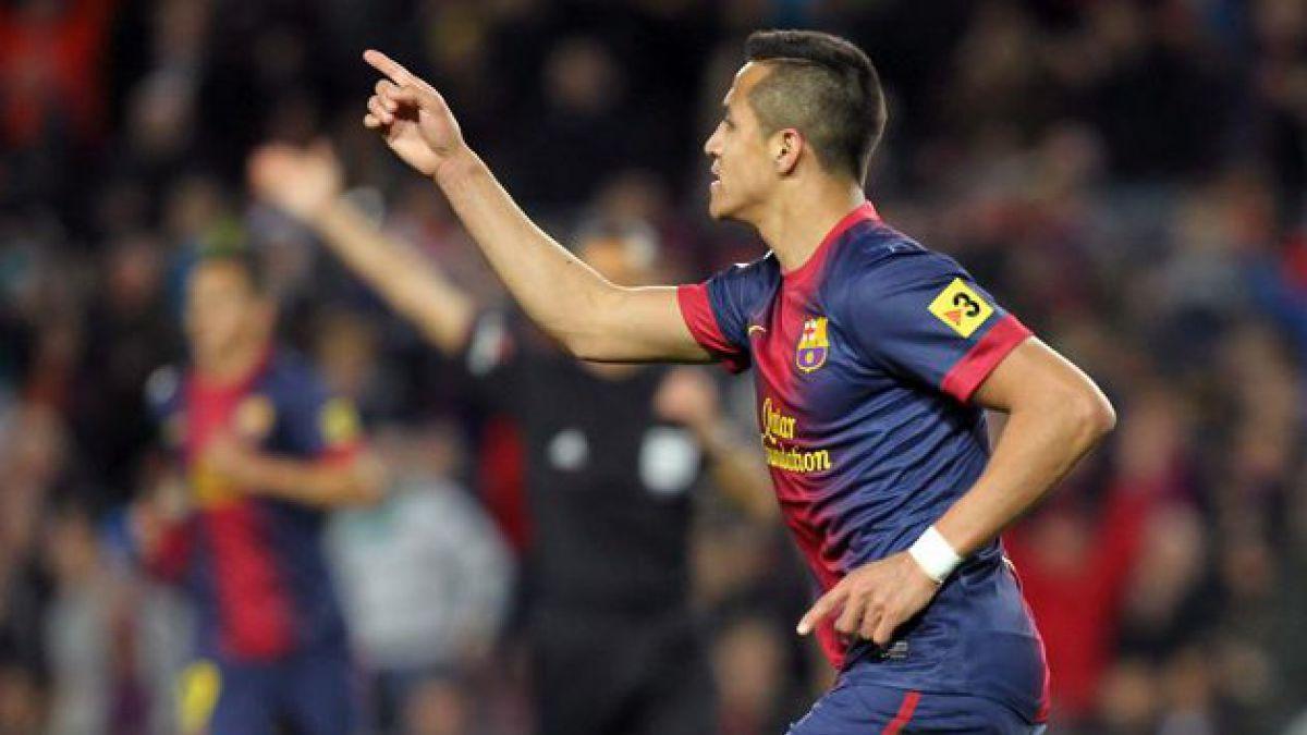 Alexis Sánchez brilló en triunfo del Barcelona