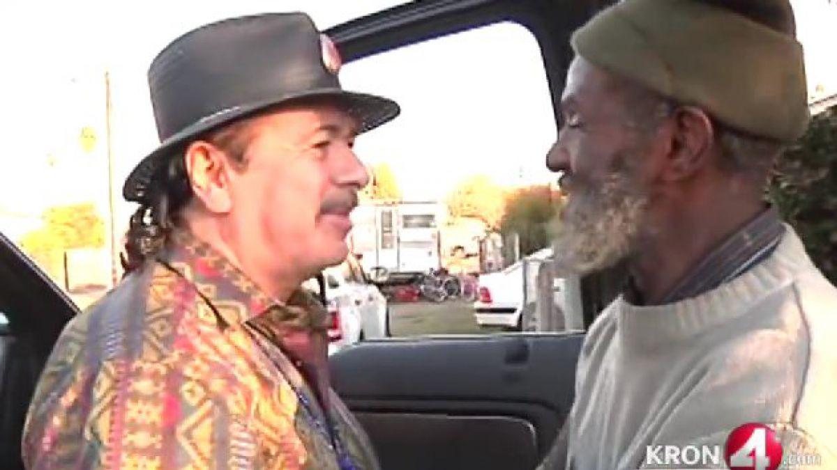 Carlos Santana se reencuentra con ex miembro de su banda ahora indigente