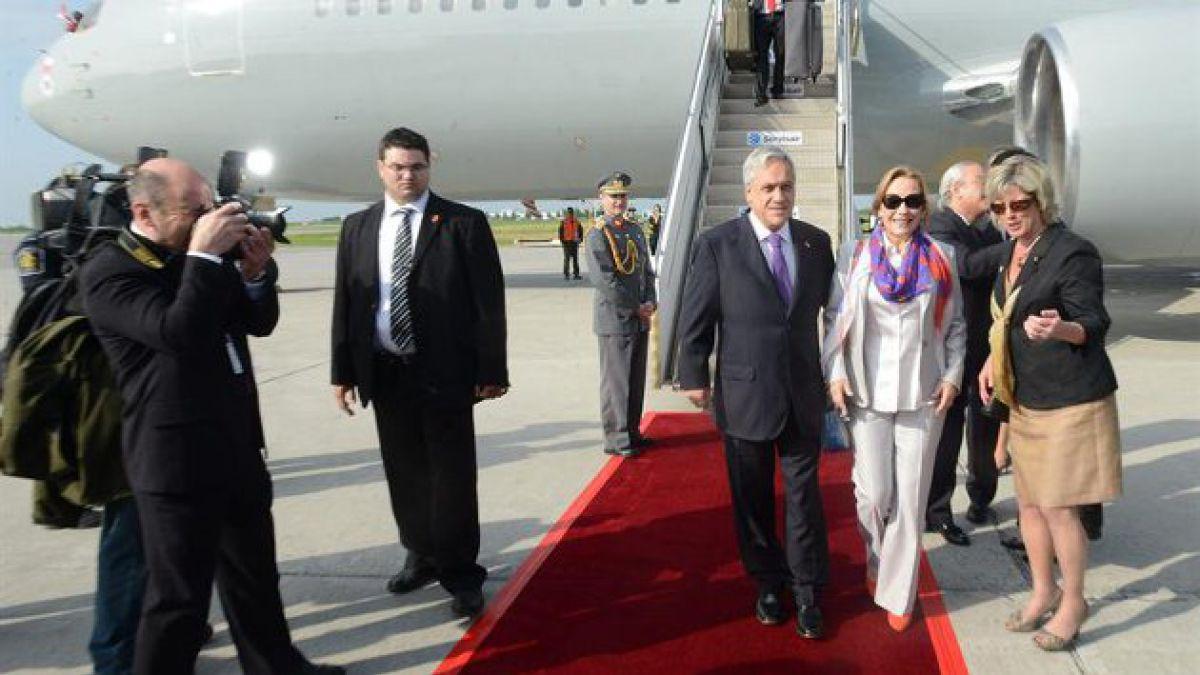 Presidente Piñera llegó a Canadá en inicio de gira internacional