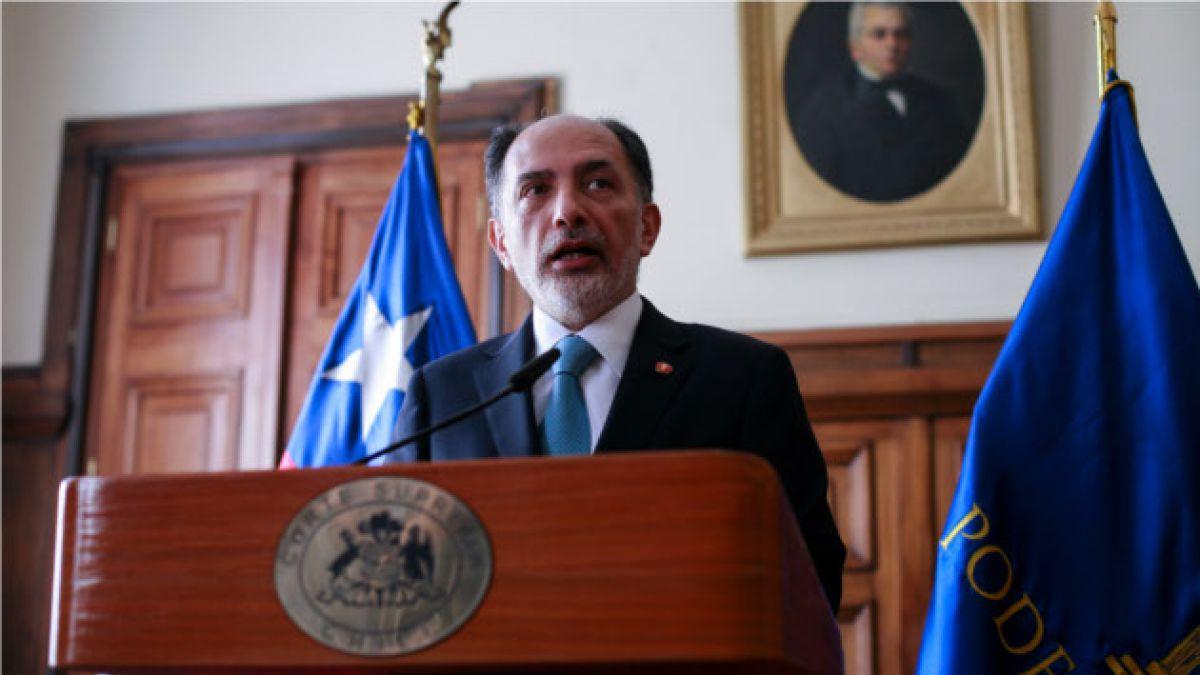 """Presidente de la Corte Suprema no se callará ante """"ataques"""" a jueces"""