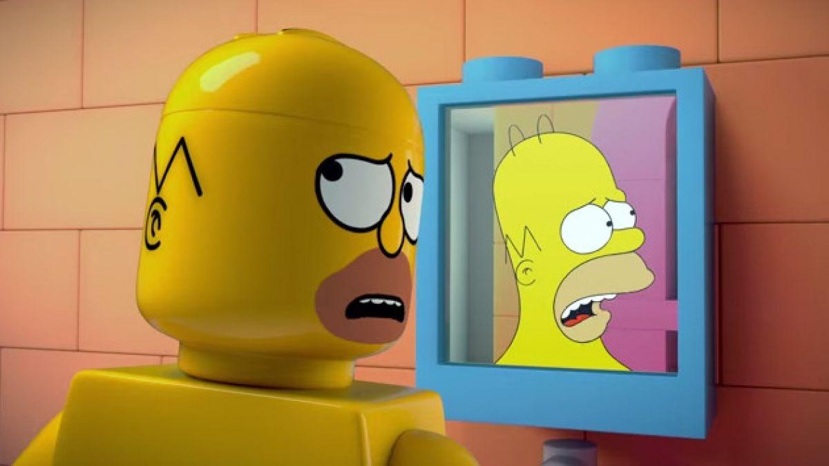 [VIDEO] Los Simpson se convierten en figuras de Lego para su episodio 550