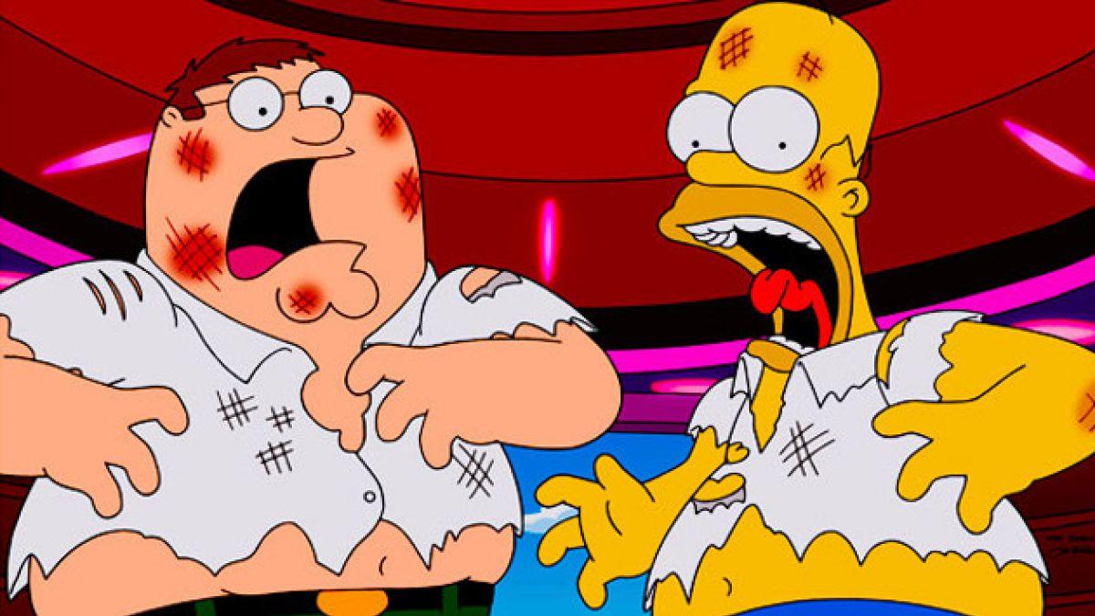 """Capítulo que juntó a """"Los Simpson"""" y """"Padre de Familia"""" triunfa en Estados Unidos"""